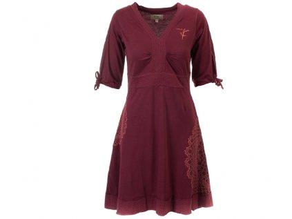 Vínové šaty z organické bavlny