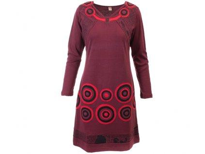 Originální vínové šaty z organické bavlny
