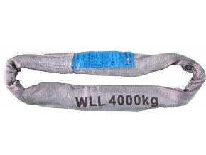 RS40 Rundschlinge Doppelmantel Schlupf WLL4000kg grau ZURRPACK
