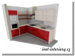Vizualizace kuchyň Jitka