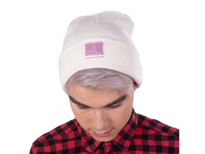Bílá čepice Adam