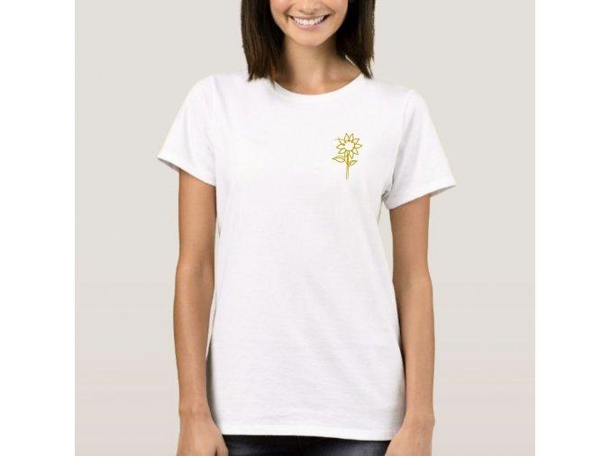 Tričko sunflower- bílé