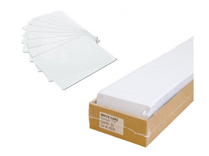 Media Smart - PVC karta bílá (54x86mm) / 500ks