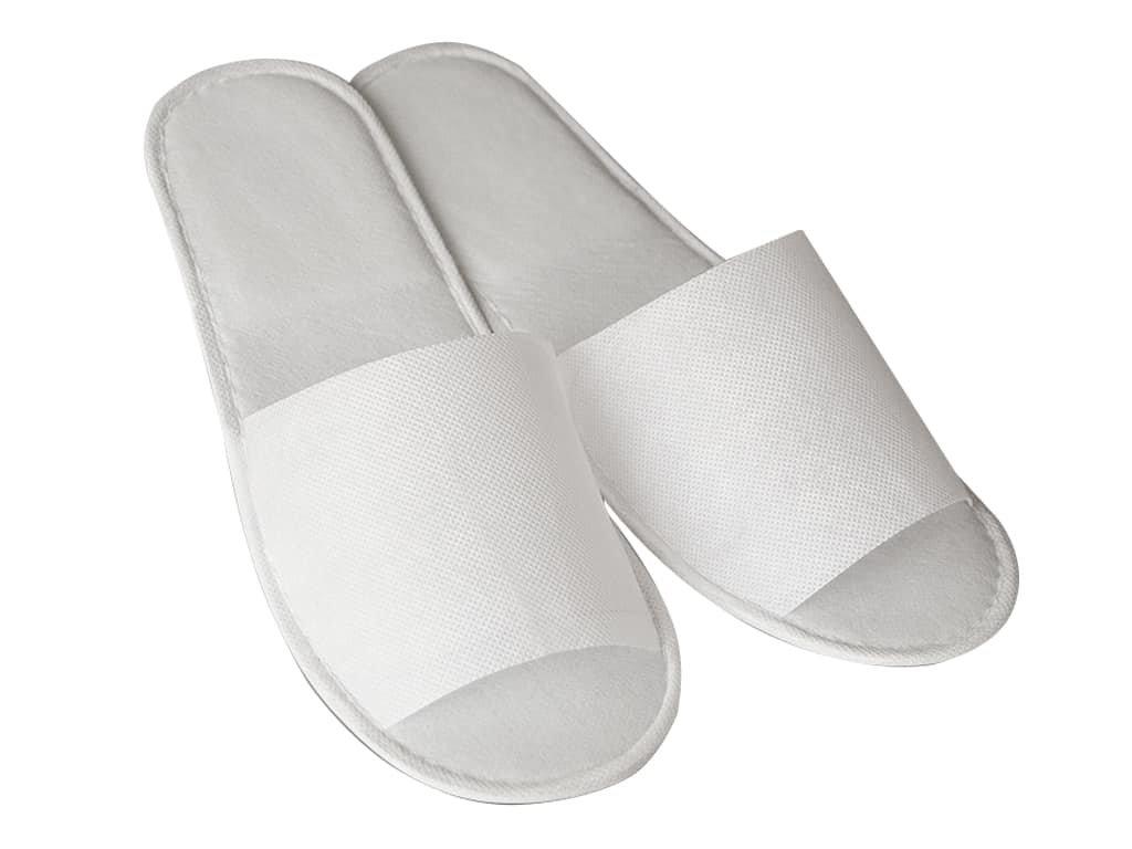 jednorázové uzavřené pantofle bílé