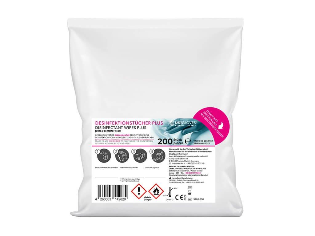 dezinfekční ubrousky náhradní náplň 200 kusů v pytlíku