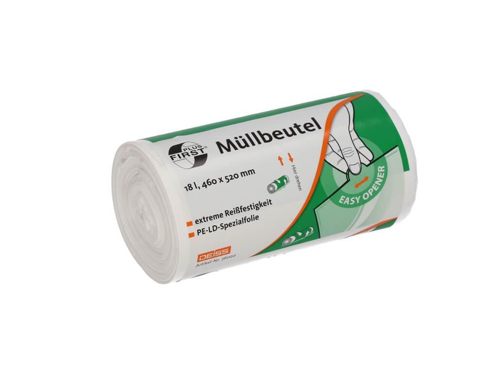 sáčky do koše na odpadky v bílé barvě