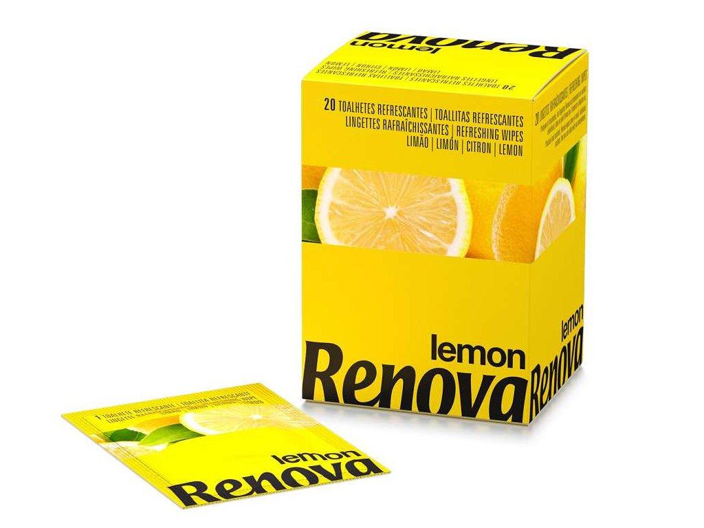 vlhčené ubrousky citron ve žluté krabičce