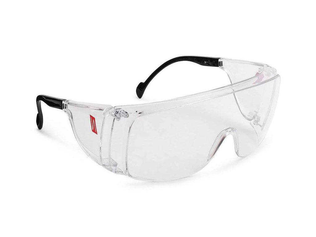 moderní ochranné brýle čiré vhodné pro současné nošení brýlí nitras