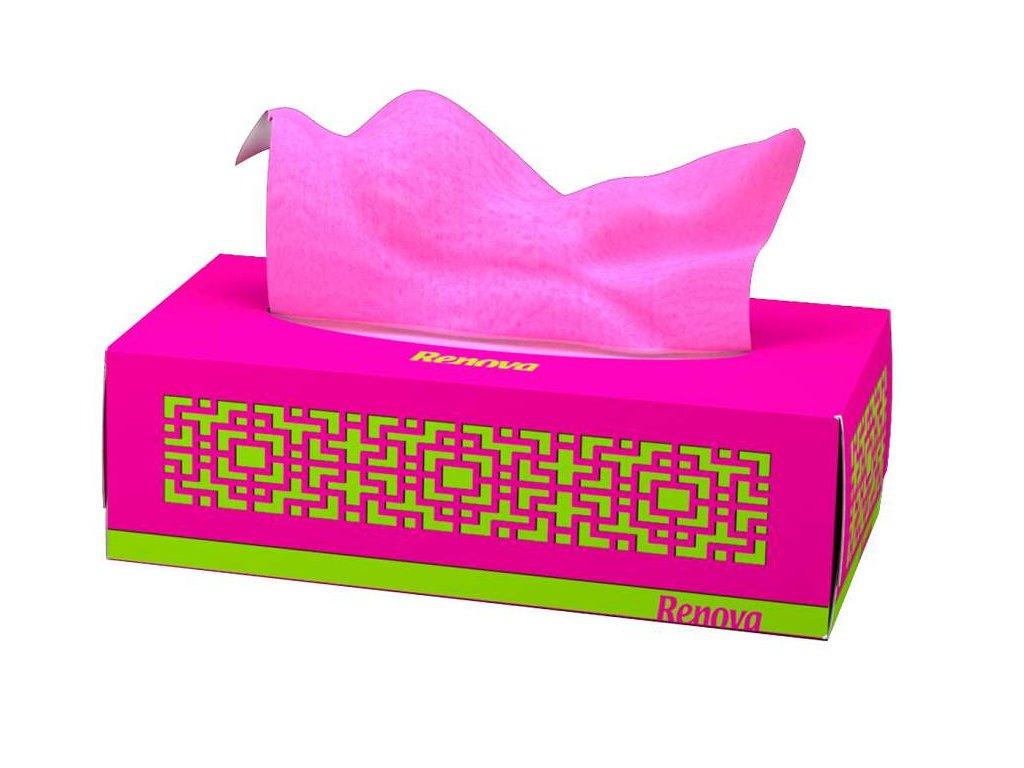 papírové kapesníčky tmavě růžové krabička
