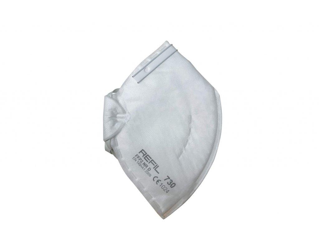 respirátor FFP2 skládaný bez vydechovacího ventilku