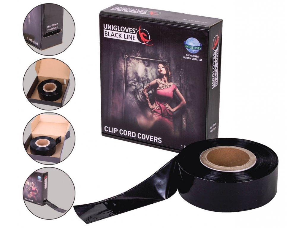 unigloves clip cord cover ochrana kabelů v černé barvě s krabičkou