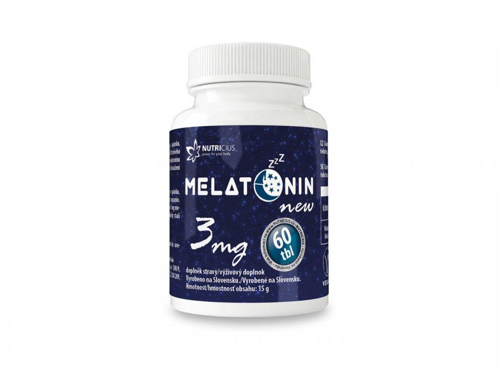 nutricius melatonin 3mg 60 tablet