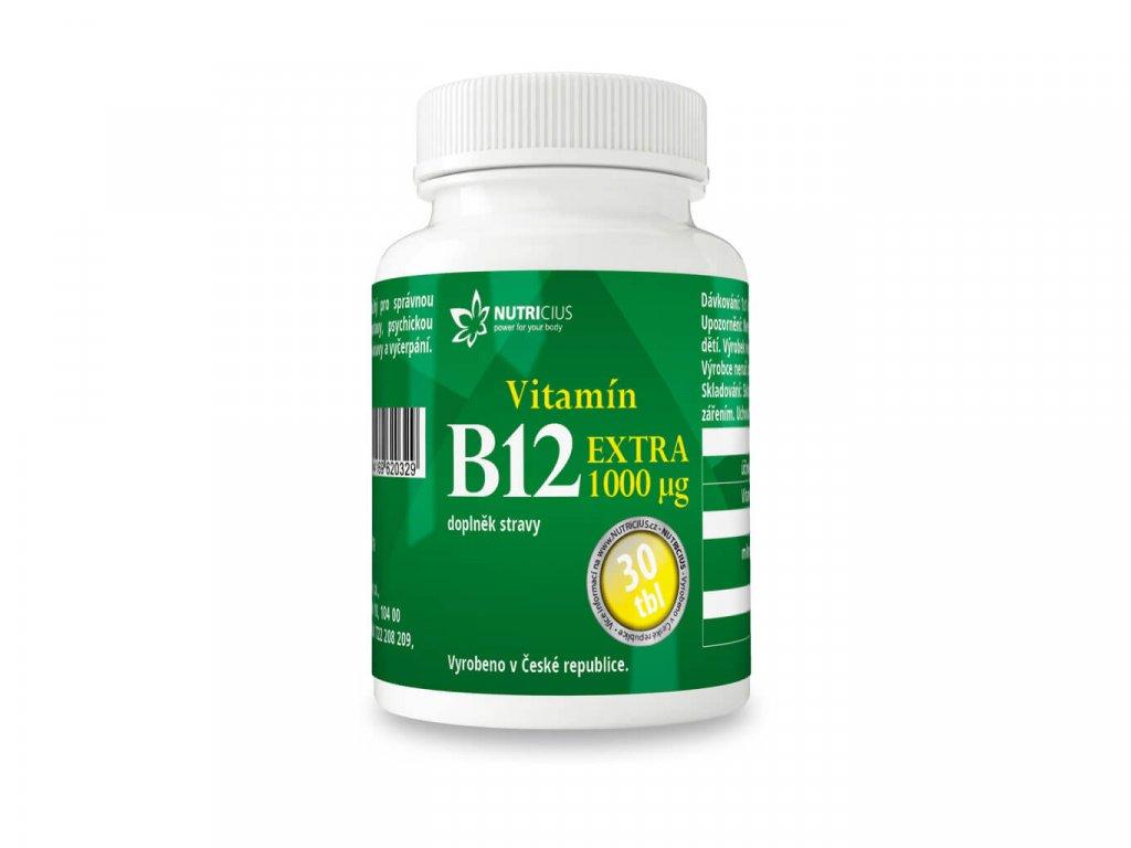 nutricius vitamín B12 extra 1000 ug 30 tablet
