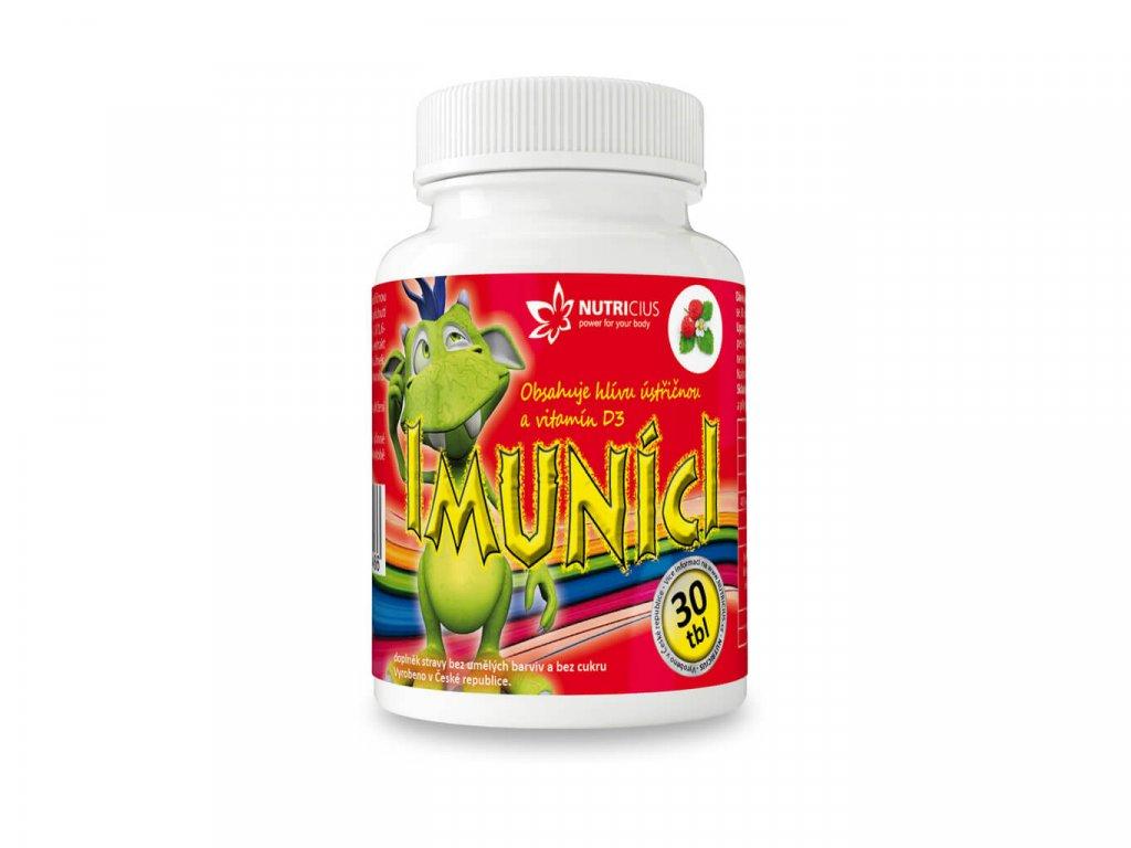 nutricius imuníci multivitamíny pro děti s vitamínem D a hlívou ústřičnou 30 tablet