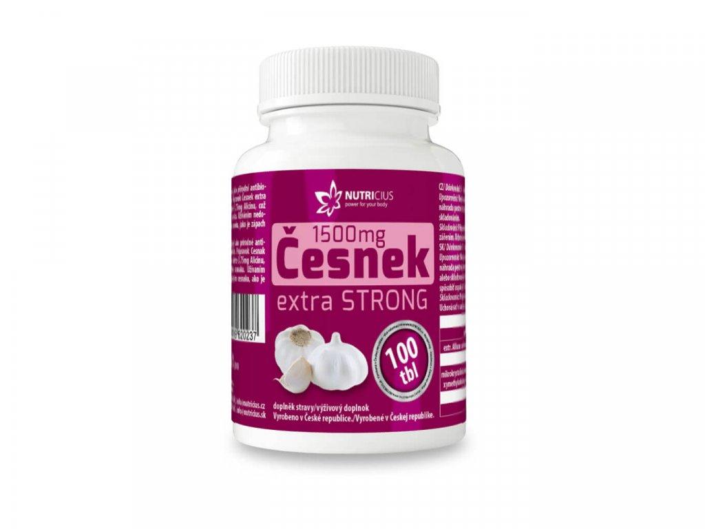 nutricius česnek 1500 mg vitamín extra strong 100 tablet