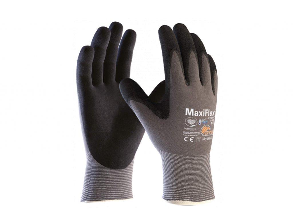 Pracovní rukavice MaxiFlex Ultimate šedivé