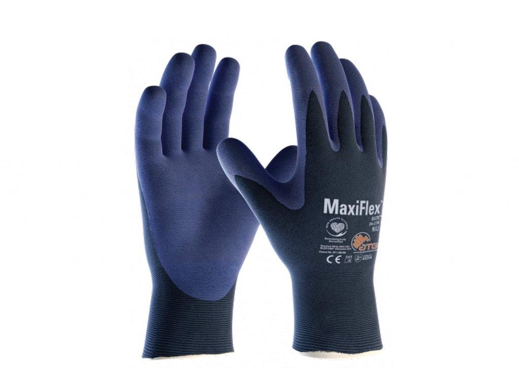 Pracovní rukavice MaxiFlex Elite modré