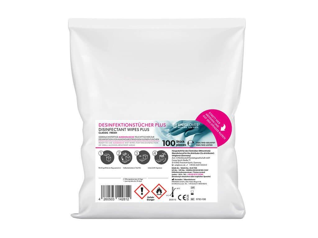 9781 100 dezinfekční ubrousky classic náhradní náplň s vůní fresh