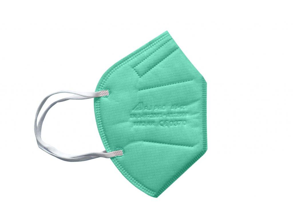 zelený respirátor FFP2 s gumičkou za uši
