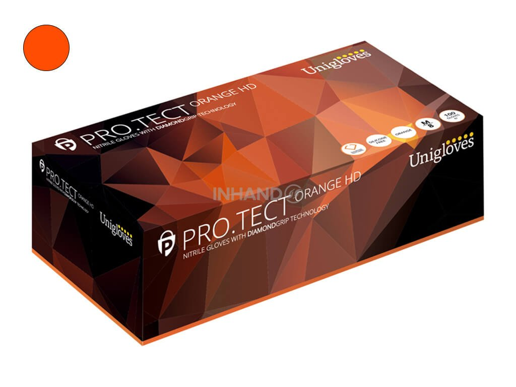 unigloves orange protect nitril