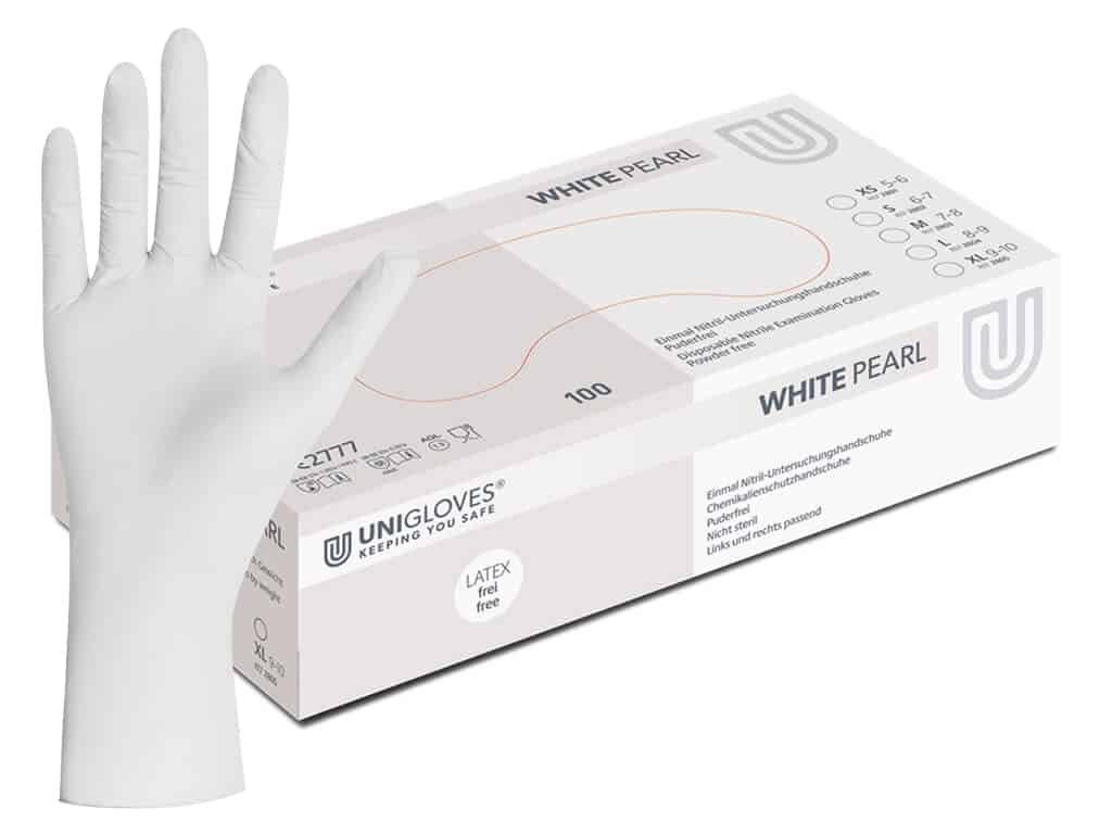 unigloves white pearl nitril