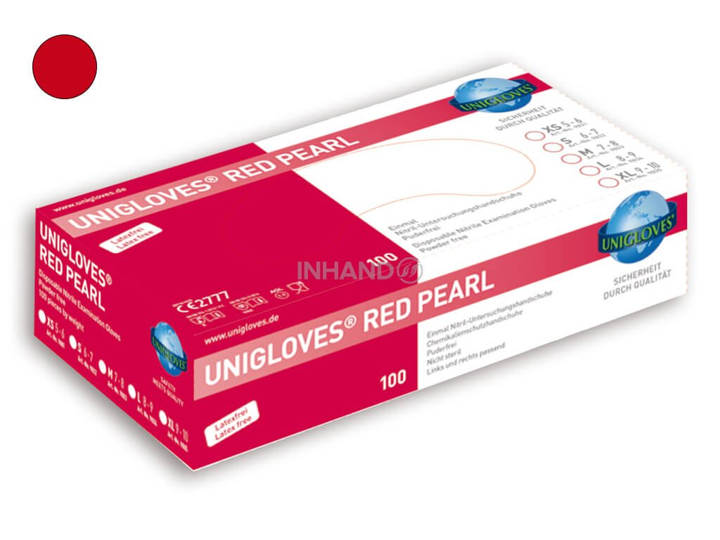 unigloves nitril red pearl