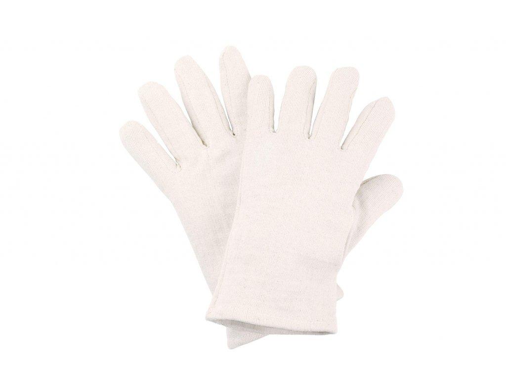 bílé bavlněné pracovní rukavice jersey 5001