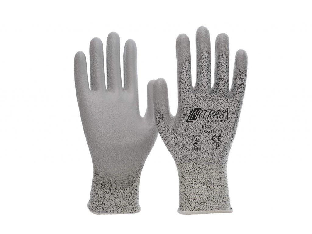 Schnittschutz Handschuhe grau 608608