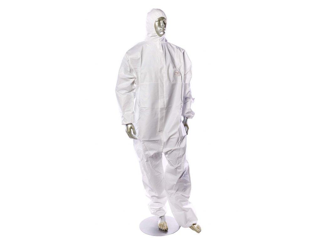 Ochranny oblek nitras protect proti chemikáliím, virům a bakteriím bílý