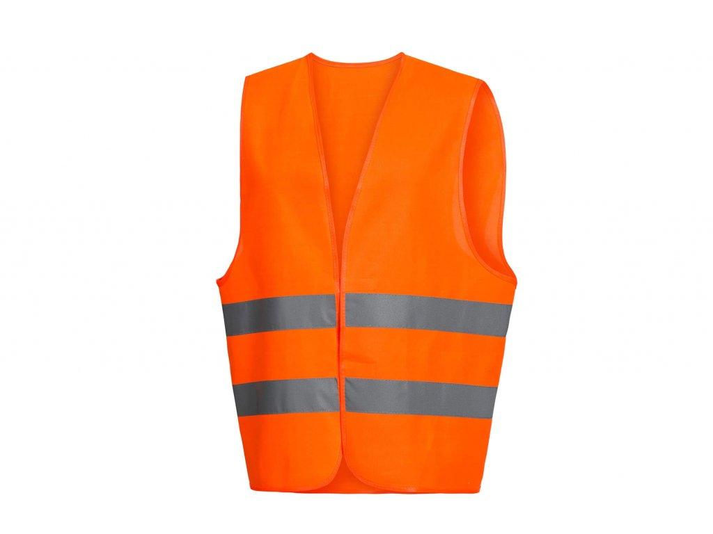 reflexní vesta oranžová na suchý zip