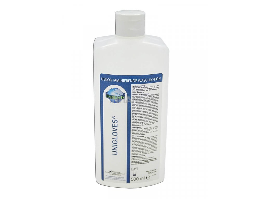 dekontaminační a dezinfekční mycí gel na ruce