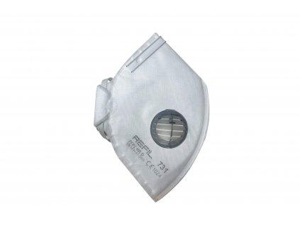 respirátor FFP2 skládaný s vydechovacím ventilkem