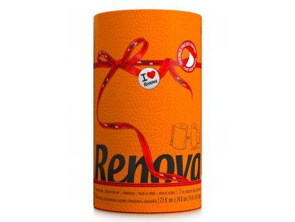renova kuchyňské ubrousky oranžové v roli