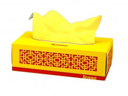 papírové kapesníčky žlutá krabička