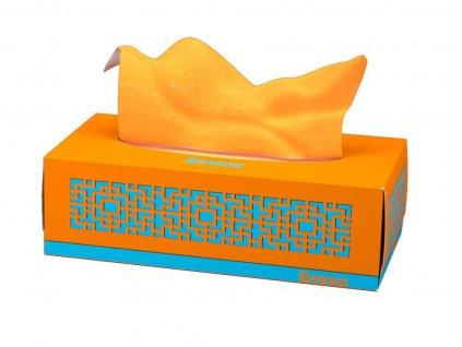 papírové kapesníčky oranžové krabička