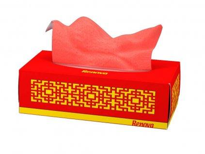 papírové kapesníčky červené krabička