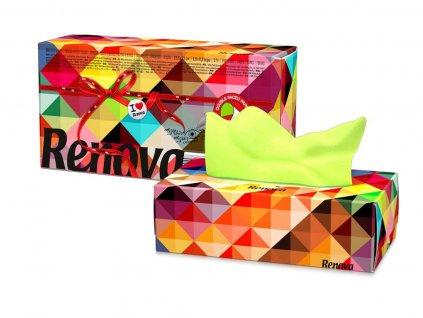 papírové kapesníčky zeleno růžové krabička