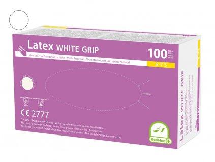 medi inn latexové rukavice bílé
