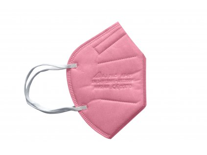 světle růžový respirátor FFP2 s gumičkou za uši