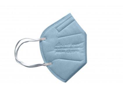 světle modrý respirátor FFP2 s gumičkou za uši