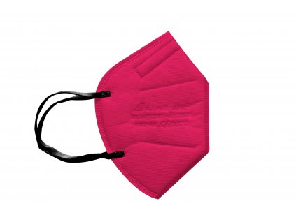 tmavě růžový respirátor FFP2 s gumičkou za uši