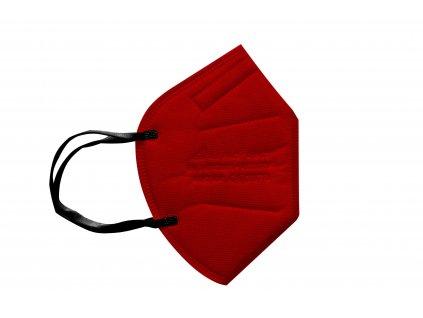 červený respirátor FFP2 s gumičkou za uši