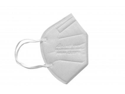 bílý respirátor FFP2 s gumičkou za uši