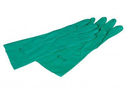 dvě zelené rukavice xtreme protiichemické do průmyslu
