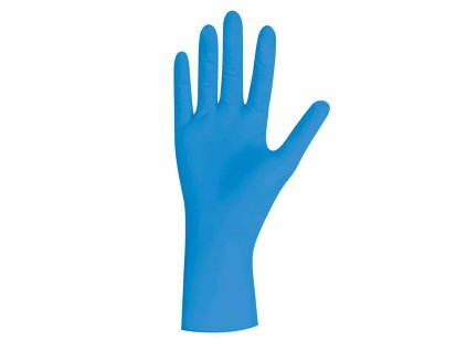 nitrilové rukavice modré blue pearl v modorbílé krabičce od značky unigloves