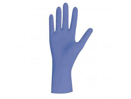 nitrilové rukavice šeříkové saphir pearl v šeříkovobílé krabičce od značky unigloves