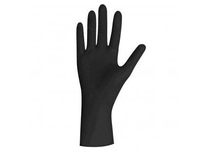 černé nitrilové rukavice black pearl v černobílé krabičce od značky unigloves
