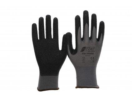 Nylonové pracovní rukavice nylotex 3520 v černošedivé barvě