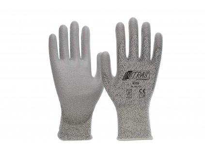 Protipořezové rukavice nitras 6315 v bíločerném žíhání