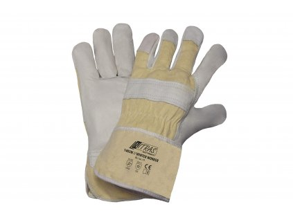 zimní pracovní rukavice nitras 1410WH v bílokrémové barvě